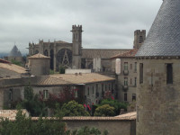 Carcassonne Cathedral from Castle Walls